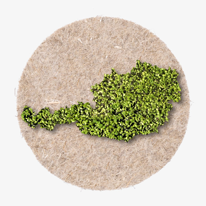 Austria country shape made with cress