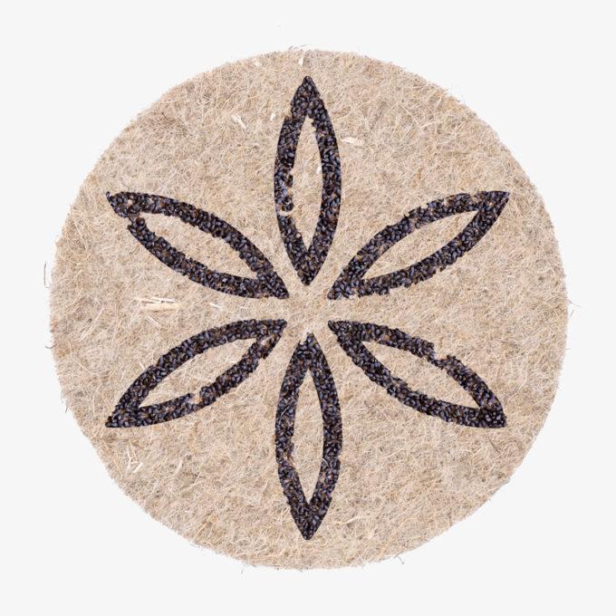 Blume des Lebens als Outline version aus Pflanzensamen zum gießen