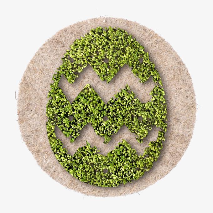 grünes Osterei aus Kresse