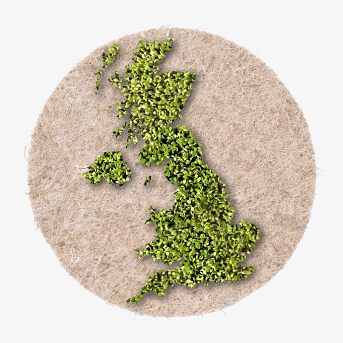 UK out of green cress seeds. green growing country