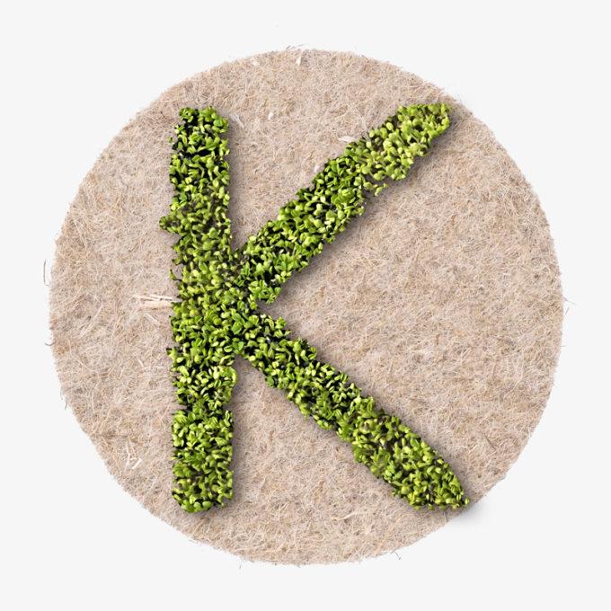 green K designer letter. ward design gift.