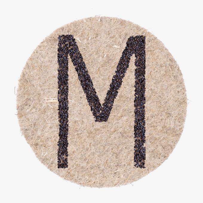 Designer Buchstaben aus Pflanzensamen Julian Hagen