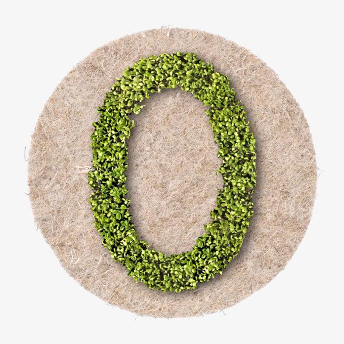 green designer letter to grow